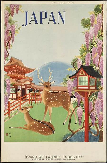 35x Vintage Travel Posters Japan - The Travel Tester Blog
