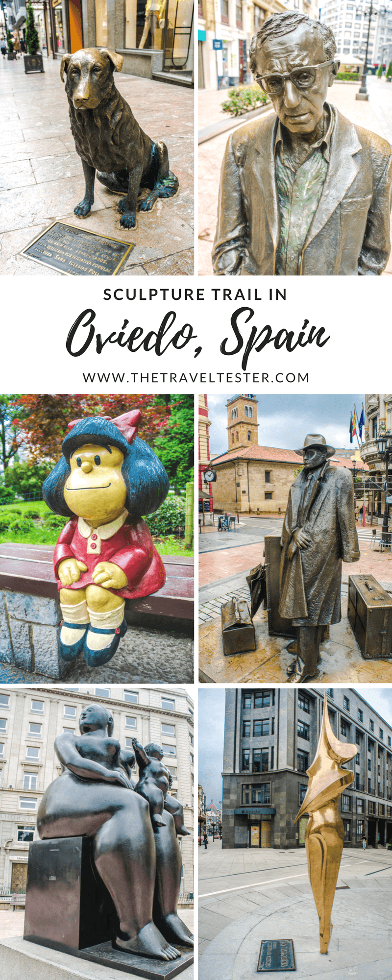 Art in Oviedo Spain: Hundreds of Sculptures Waiting to be Discovered! || The Travel Tester