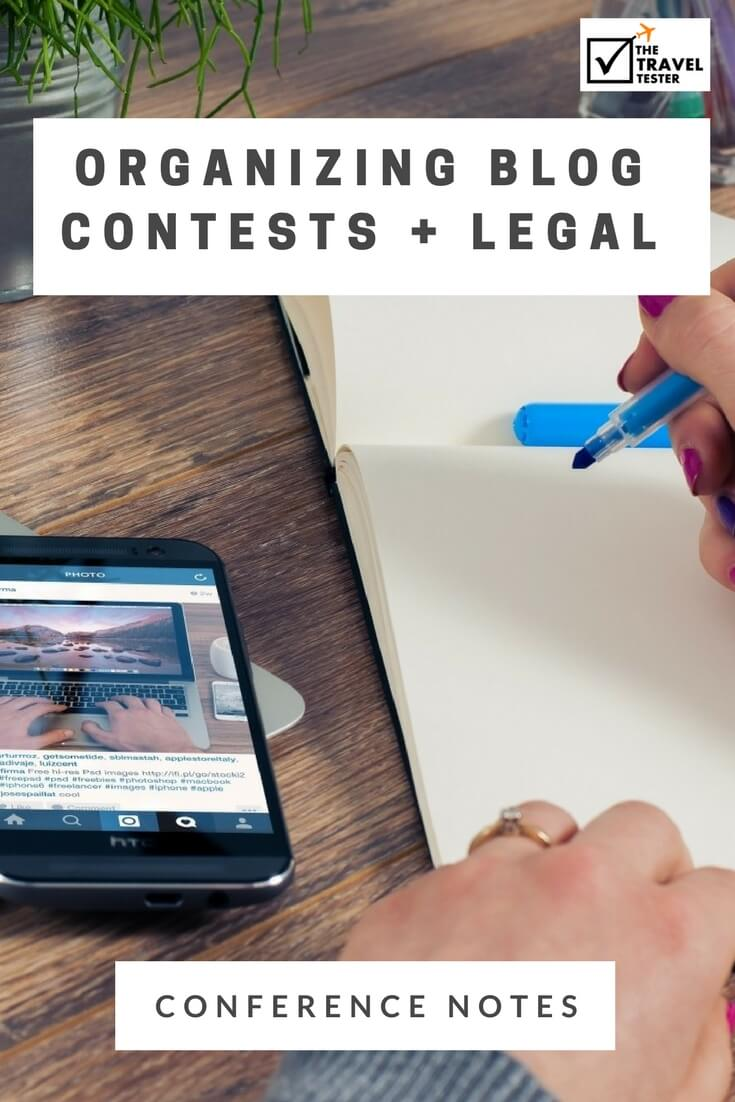 Organizing Blogging Contests & Giveaways + The Legal Side of Blogging - The Best Insights from Travel Blogging Conferences in the Last 5 Years! [10/10] || The Travel Tester