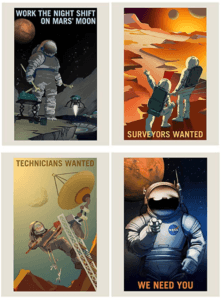 NASA Job Advert Poster 8 Pack